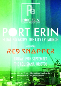PORT ERIN ALBUM LAUNCH POSTER