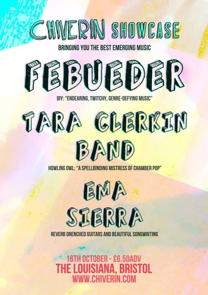 Preview: Chiverin Showcase – Febueder + Tara Clerkin Band + Ema Sierra @ The Louisiana (16/10/14)